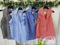 Рубашка(Фабричный Китай)9039 размер универсальный 42/46 на бюст до 94 см длина 61 см ткань коттон полиэстер