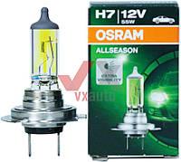 Лампа галог. H7 12V55W OSRAM PX26D / ALLSEASON