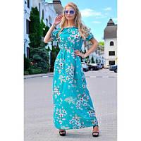 Платье в пол Цветы шифон