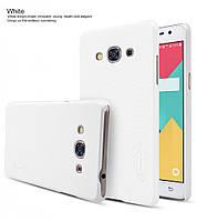 Чехол Nillkin Frosted для Samsung J310 Galaxy J3 Pro белый (+пленка)