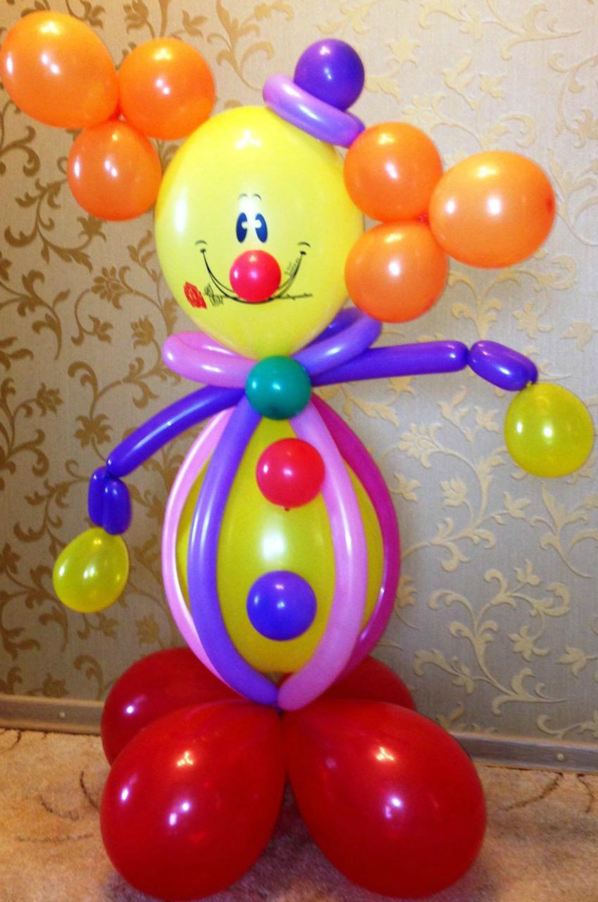 """Композиция из шаров """"Клоун"""""""