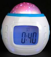 Годинник проектор зоряного неба зі звуками природи / Часы-проектор звездного неба со звуками природы