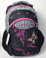 Школьный рюкзак для девочки подростка DFW черный