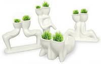 Трав'янчики керамічні подвійні білі / Травянчики керамические двойные белые