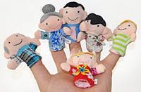 Пальчиковий дитячий ляльковий театр Сім'я, 6 іграшок / Пальчиковый детский кукольный театр Семья (6 игрушек)