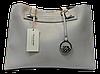 Оригинальная прямоугольная женская сумочка DAVID DJONES серого цвета GNM-100861
