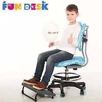 Детское ортопедическое кресло для школьника от 7 до 18 лет ТМ FunDesk Голубой SST6 Blue