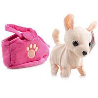 Интерактивная игрушка Na-Na Собака в сумке, поёт и гуляет IF50S