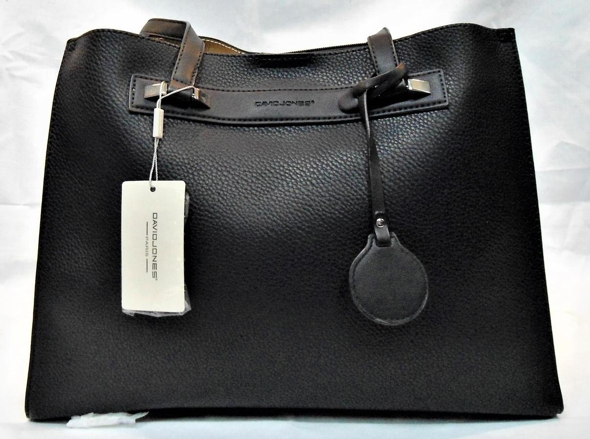 Симпатичная прямоугольная женская сумочка DAVID DJONES черного цвета GNM-100867, фото 1