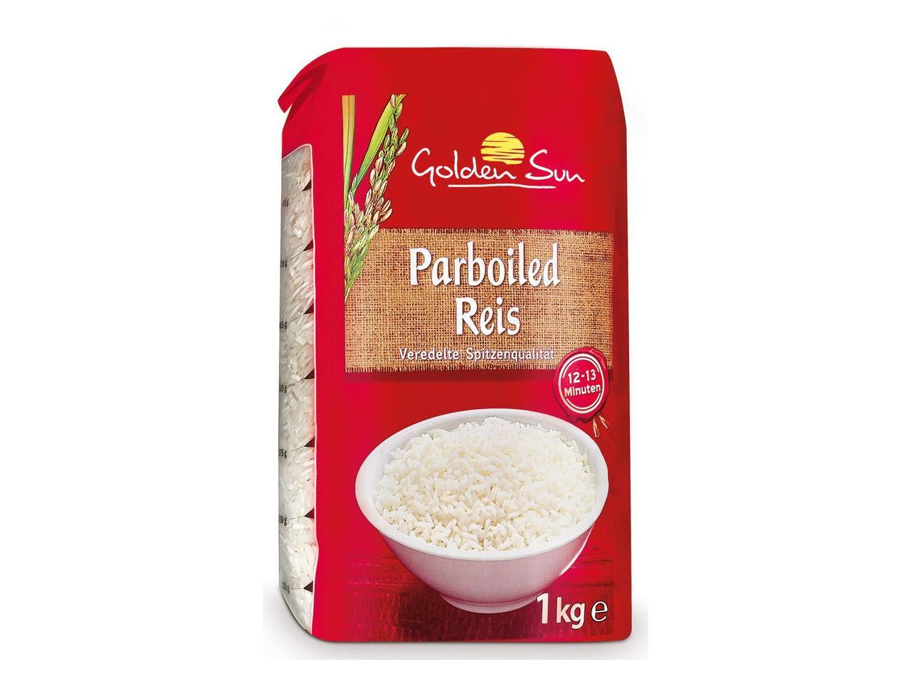 Рис пропаренный Golden Sun, 1 кг