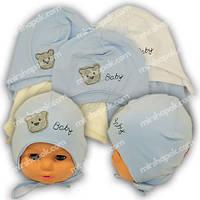 Детские шапки из трикотажа на завязках, Y1025