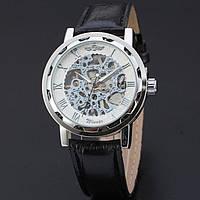 Мужские часы Winner Skeleton (скелетон) (Кожаный ремешок) Гарантия!