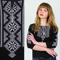 Лонгслив черный Орнамент узкий Серебро , фото 1