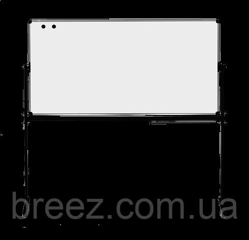 Оборотная доска для маркера ABC Office 90 x 120 см, алюминиевая рама, фото 2