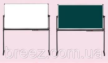 Оборотная маркерно-меловая доска ABC Office 100 x 150 см, алюминиевая рама, фото 2