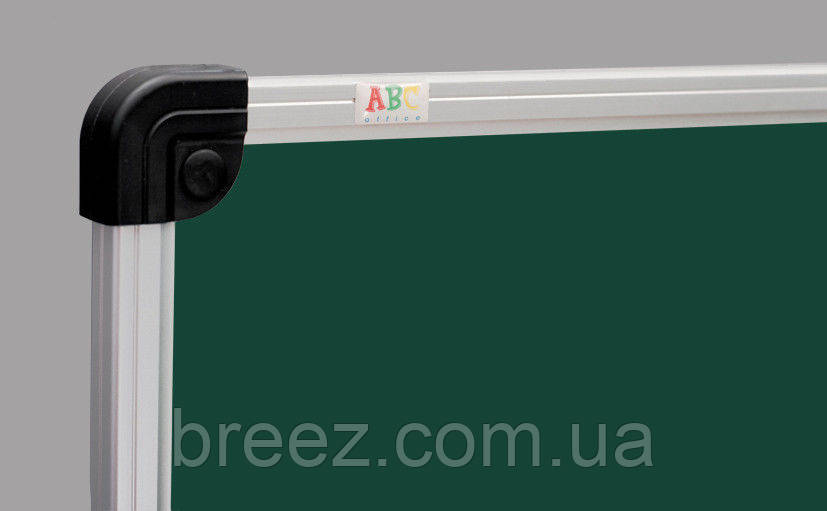 Оборотная доска для мела ABC Office 100 x 200 см, алюминиевая рама