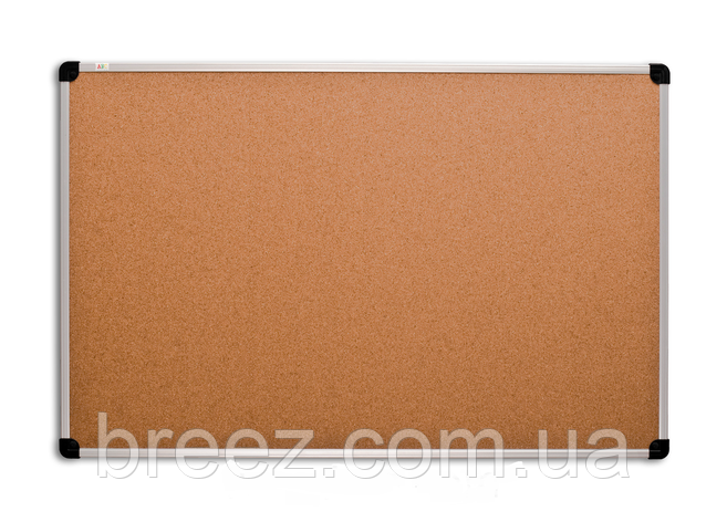 Пробковая доска ABC Office 90 x 120 см, алюминиевая рама S-line, фото 2