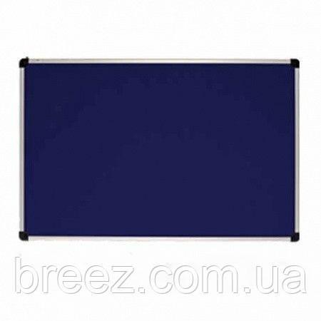 Текстильная доска ABC Office 65 x 100 см, алюминиевая рама S-line, синяя