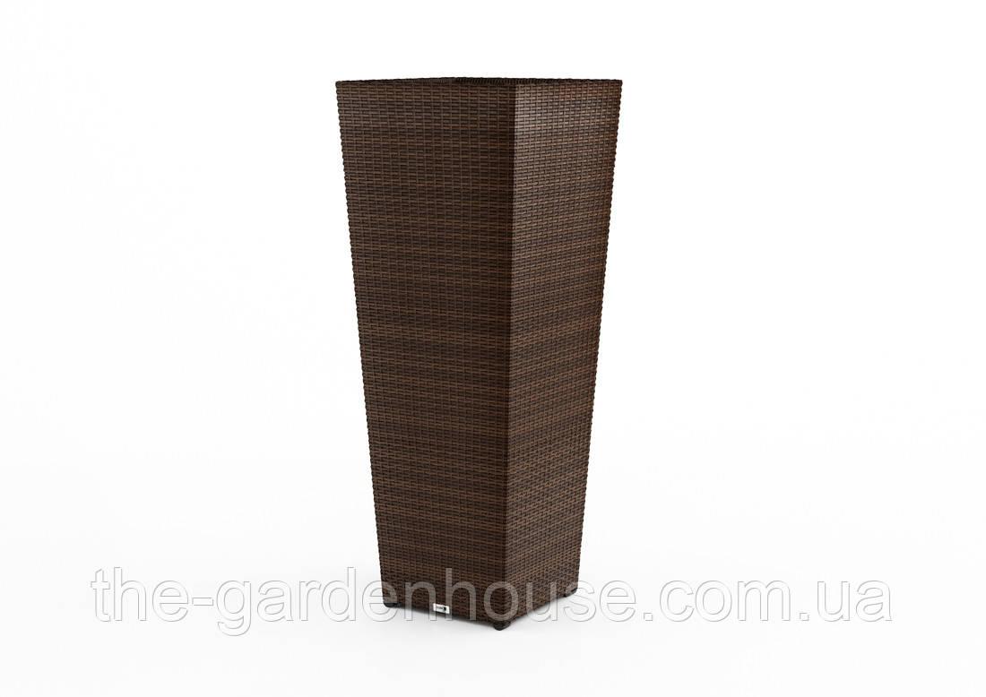 Ваза Scaleo Modern з штучного ротанга 41х41х100 см коричневий