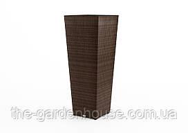 Ваза Scaleo Modern из искусственного ротанга 41х41х100 см коричневый