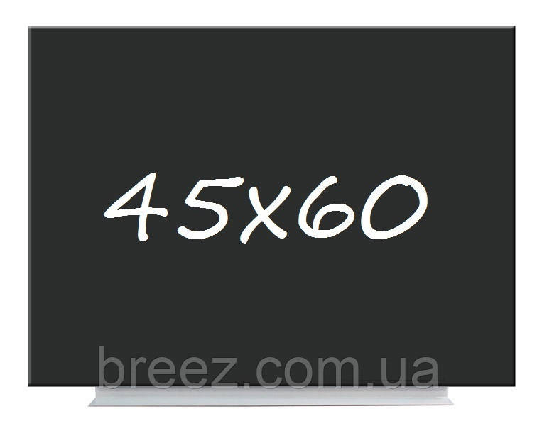 Доска меловая магнитная черная безрамная 45х60 Тетрис