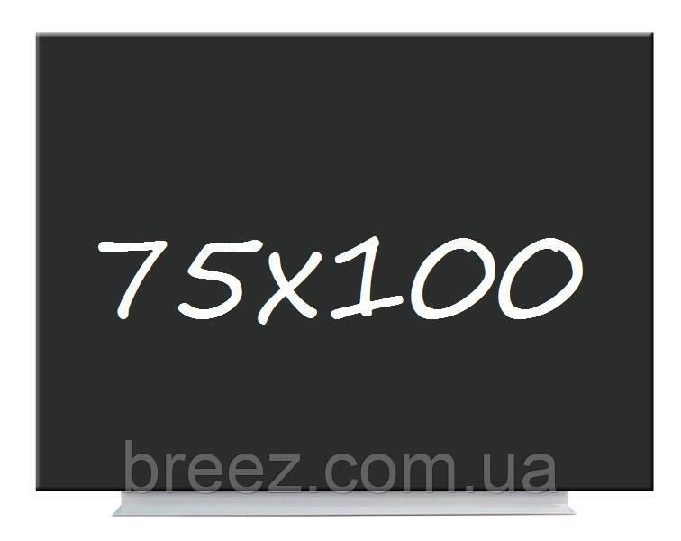 Доска меловая магнитная черная безрамная 75х100 Тетрис
