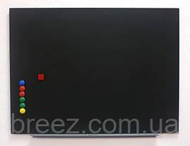 Доска меловая магнитная черная безрамная 90х120 Тетрис, фото 2