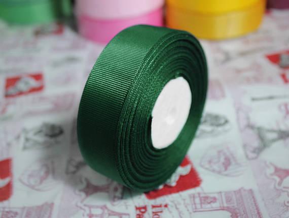 Лента репсовая темно- зеленая 25 мм, 23 м, фото 2