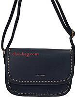 Маленькая женская сумка с волнистой каймой темно синий