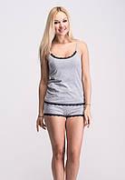 Пижама женская хлопковая, майка шорты П034