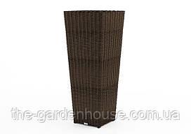 Ваза Scaleo Royal из искусственного ротанга 41х41х100 см коричневый