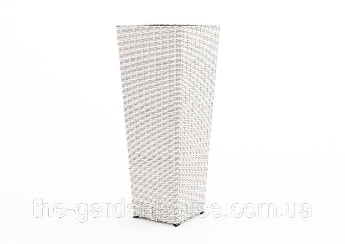 Ваза Scaleo Royal из искусственного ротанга 41х41х100 см белый