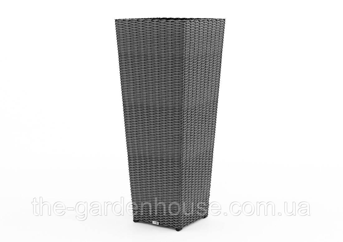 Ваза Scaleo Royal из искусственного ротанга 41х41х100 см серый