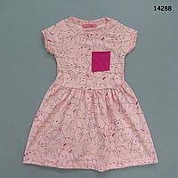 """Летнее платье """"Кролики"""" для девочки. Маломерит. 2 года, фото 1"""