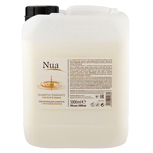 Nua — Увлажняющий шампунь с аргановым маслом 5л  Уже после первого нанесения питает и увлажняет волосы, придае