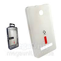 Capdase. Nokia Asha 210. Силиконовый чехол (+пленка) Белый