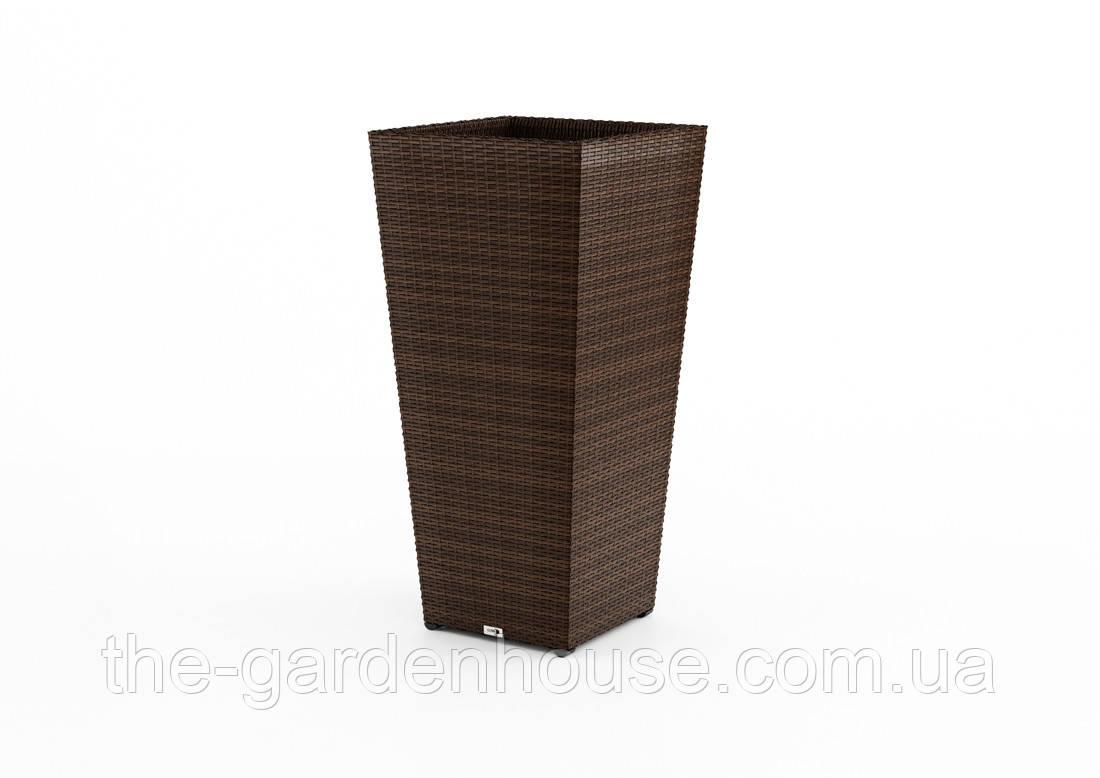 Ваза Scaleo Modern з штучного ротанга 41х41х80 см коричневий