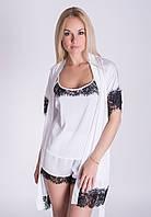 Женский комплект для дома, пижама и халат, К043п