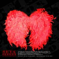 Красные ангельские крылья карнавальные