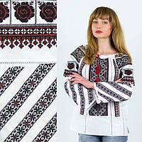 Стильная вышиванка женская Роксолана на домотканом полотне 36