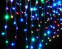 LED гирлянда Дождь на 600 лампочек 2х2.м разноцветная, 1001156, светодиодный занавес, гирлянда плей лайт, светодиодные шторы, LED гирлянда,