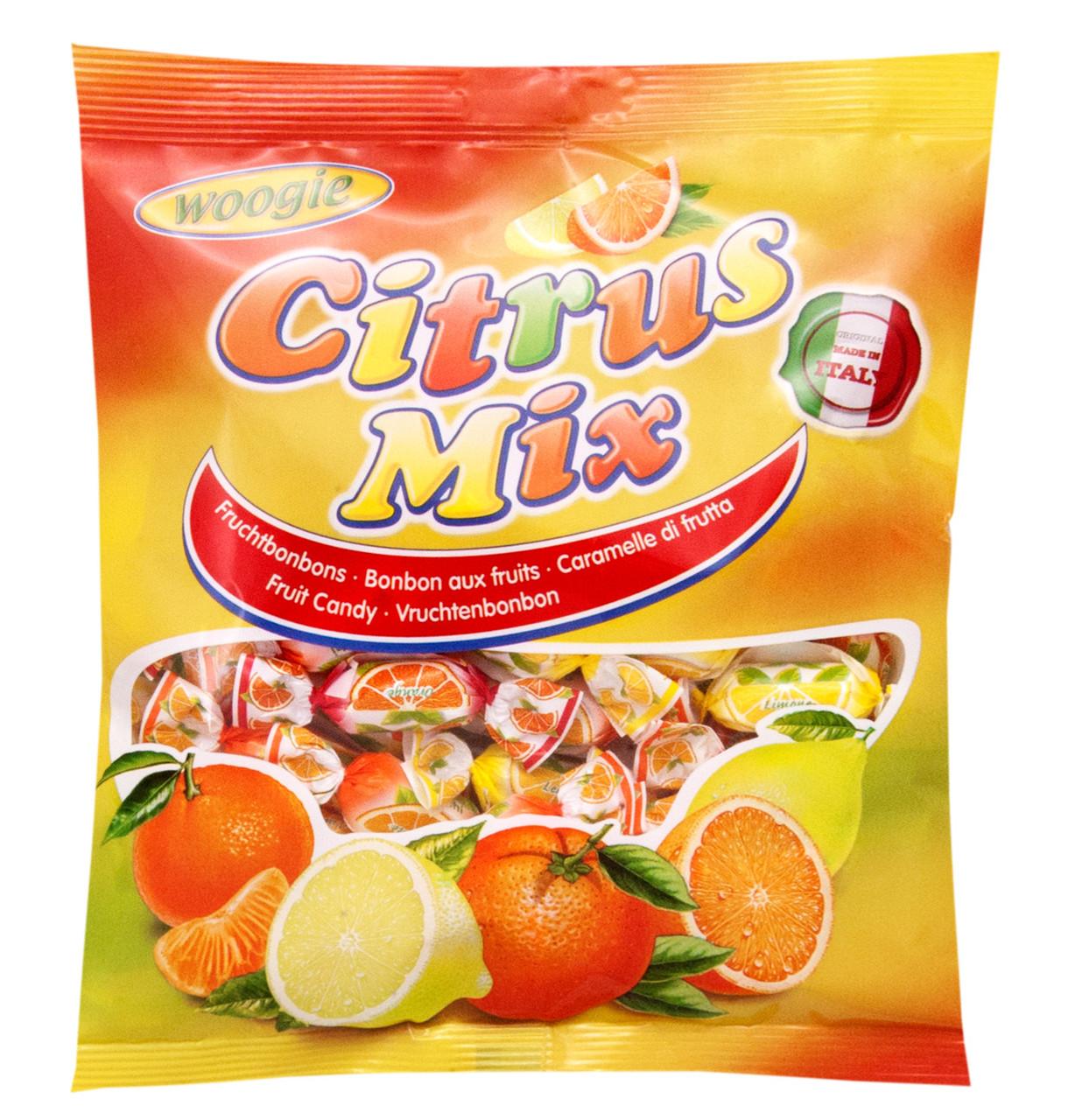 Леденцы Woogie Candies Citrus Mix со вкусом лимона и апельсина, 250 г.