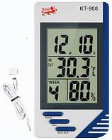 Термометр-гигрометр-часы KT-908