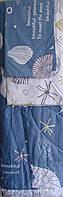 Комплект двуспальный одеяло, простынь, 2 наволочки в морском стиле 100% хлопок.