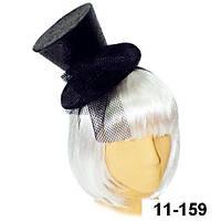 Шляпка цилиндр на обруче «Дита Фон Тиз» черная. Продажа и прокат.