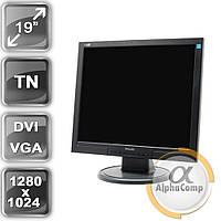 "Монитор 19"" Philips 190S (TN/5:4/VGA/DVI) class A б/у"