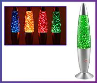 """Ночник, детский светильник  """"Глиттер Лампа"""" высота – 37,5 см."""