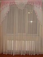 Ламбрекен  Дуга нежно розовый, 2м