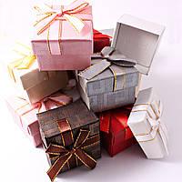 Подарочная коробочка для кольца и серьг квадратная - Классика №1
