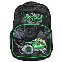 """Рюкзак детский школьный для мальчиков """"Джип"""" (40х35см.) +зеленый"""